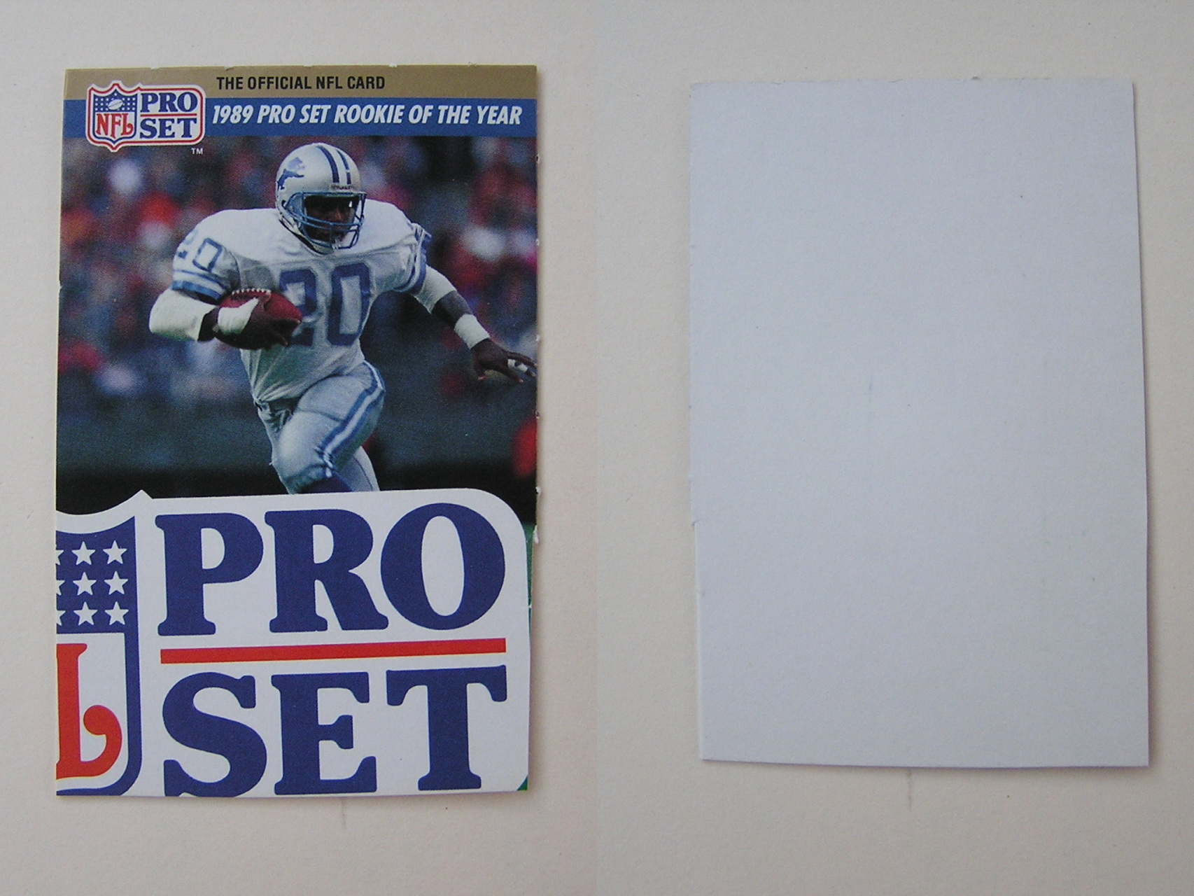 1990 1991 Detroit Lions Football Trading Cards Offered